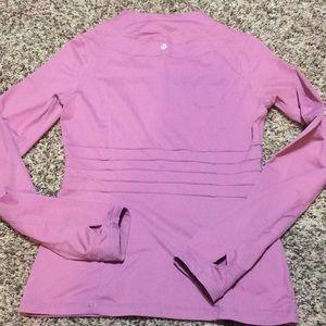 Lululemon Womens High Neck Long Sleeve Pink/Purple